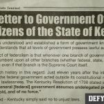 Instructing the Magistrates and the People - Open Letter to Government Officials and Citizens of the State of Kentucky