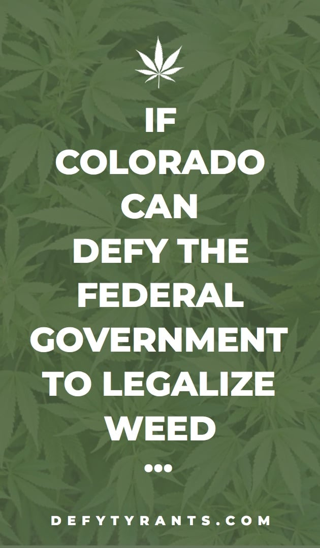 Colorado Defies over Weed card - front