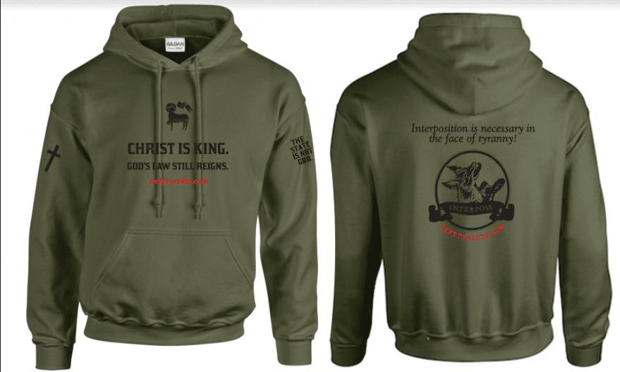 """Defy Tyrants """"Christ is King"""" Hooded Sweatshirt"""