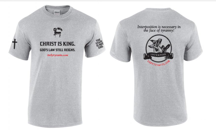 "Defy Tyrants ""Christ is King"" T-shirt"